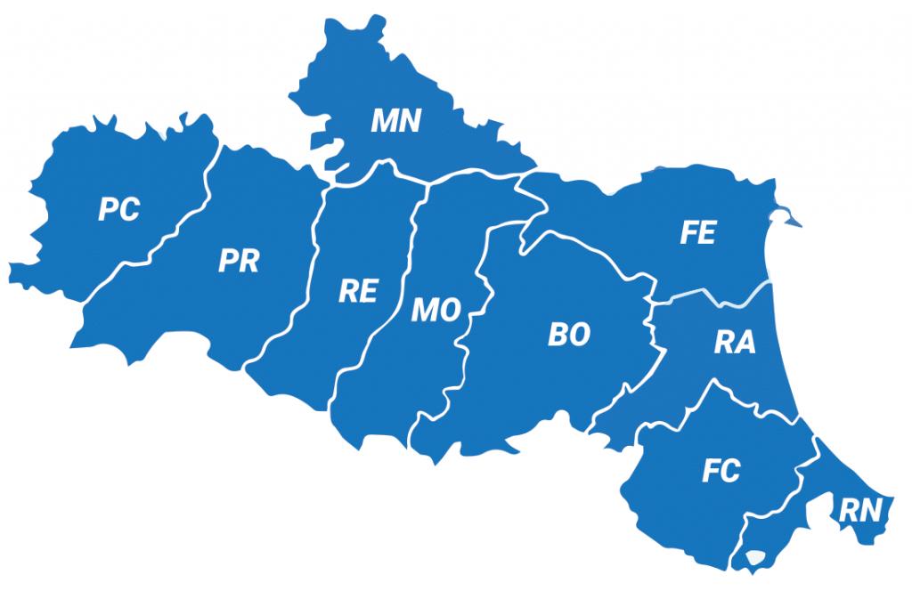 Il territorio dell'Emilia Romagna